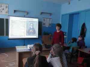 Урок в начальных классах,В-Шибряйский филиал