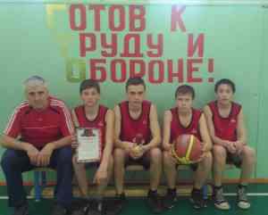Команда-победитель Березовского филиала