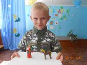 Харьков Максим, победитель конкурса поделок
